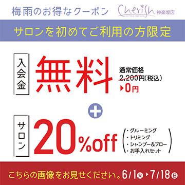 梅雨限定クーポン神楽坂3